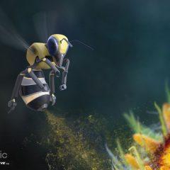 Des drones abeilles pour polliniser les fleurs
