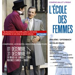 La pièce de Molière «L'École des Femmes» au théâtre Déjazet à Paris le 01 Décembre !