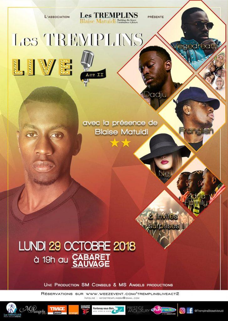 Les Tremplins Blaise Matuidi : deuxième édition des Tremplins Live le 29 octobre au Cabaret Sauvage !