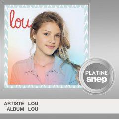 Lou : Son premier album certifié platine