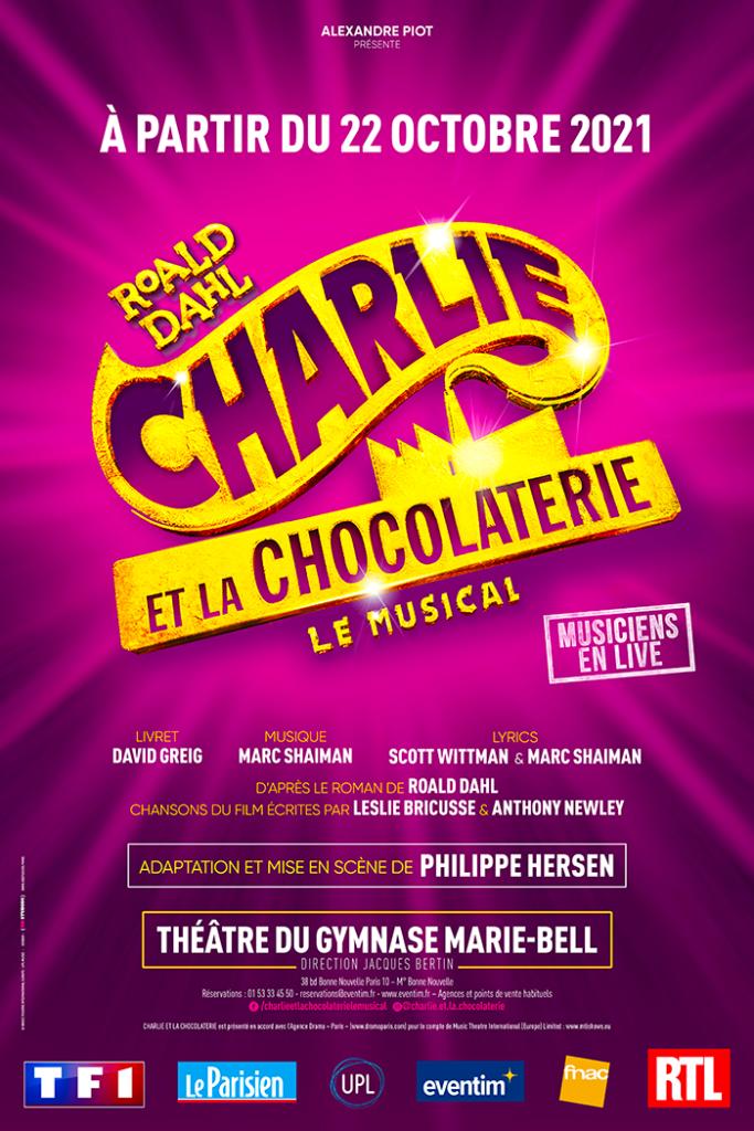 Charlie et la Chocolaterie le Musical à partir du 22 octobre au Théâtre du Gymnase !